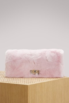 Miu Miu Cristal fur shoulder bag