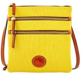 Dooney & Bourke Nylon North South Triple Zip Shoulder Bag - YELLOW - STYLE