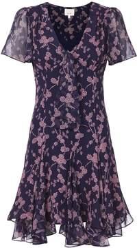Cinq à Sept Annali Tie Front Mini Dress