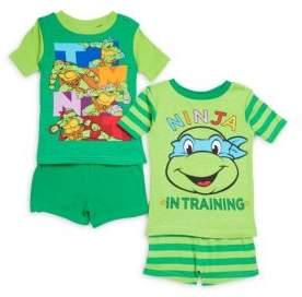 AME Sleepwear Little Boy's Ninja Turtle Tee & Shorts Set