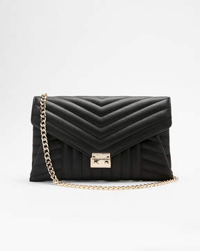 Express Front Lock Quilted Clutch