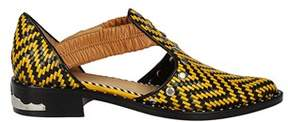 Toga Pulla Women's Yellow/black Leather Sandals.
