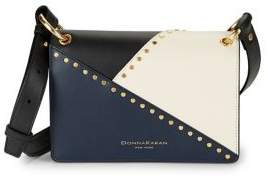 Donna Karan Studded Leather Crossbody Bag