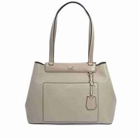 Michael Kors Meredith Medium East/West Bonded Leather Tote- Truffle - ONE COLOR - STYLE
