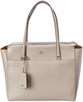 Tory Burch Parker Leather Tote - GREY - STYLE