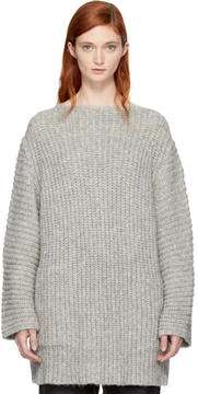 LAUREN MANOOGIAN Grey Fisherman Tunic Sweater