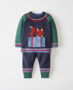 Hanna Andersson The Fox Family Sweater In Cotton & Merino