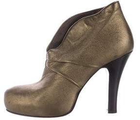 Nanette Lepore Metallic Platform Booties