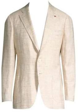 Isaia Textured Wool Blazer
