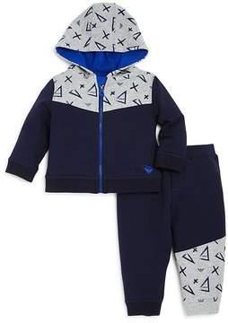 Armani Junior Boys' Geo Print Hoodie & Joggers Set - Baby