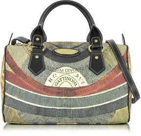 Gattinoni Planetarium Medium Coated Canvas and Leather Satchel Bag