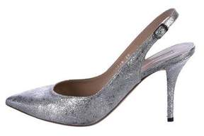 Dries Van Noten Metallic Slingback Pumps