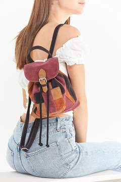 Urban Outfitters Suede Patchwork Mini Backpack