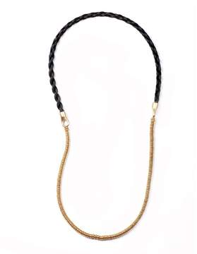 Lulu Frost George Frost Thick Horsehair 50/50 Necklace - Black & Gold
