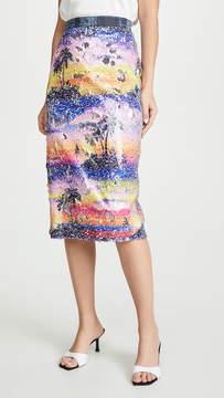 Ksenia Schnaider Hawaii Sequined Skirt