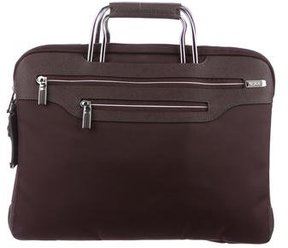 Tumi Leather-Trimmed Laptop Bag