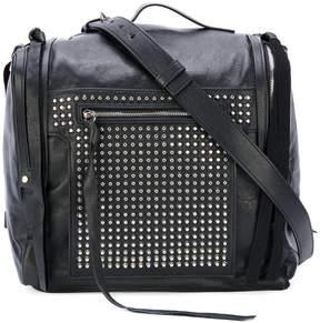 McQ 'Loveless' 69 studded mini convertible box bag