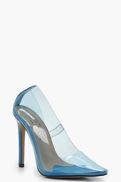 boohoo Clear Coloured Court Heels