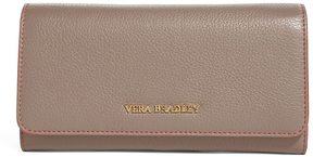 Vera Bradley Taupe Audrey Leather Wallet - TAUPE - STYLE