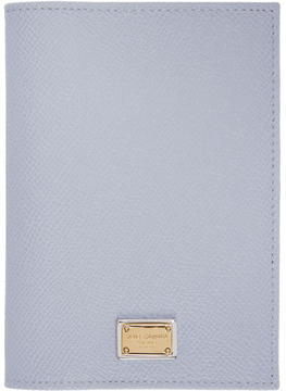 Dolce & Gabbana Blue Leather Passport Holder - BLUE - STYLE
