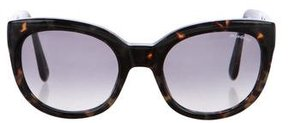 Saint Laurent Tortoiseshell Gradient Sunglasses