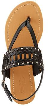 Charlotte Russe Studded Braided T-Strap Sandals