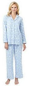 Carole Hochman Novelty Print Microfleece Notch Collar Pajama Set