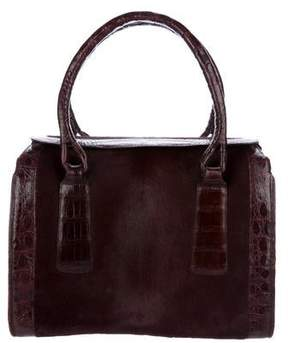 Nancy Gonzalez Crocodile-Trimmed Handle Bag