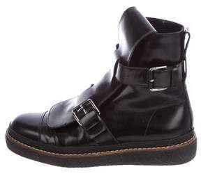 Marni Leather Buckle Boots