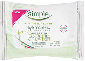Simple Kind To Eyes Eye Makeup Remover Pads