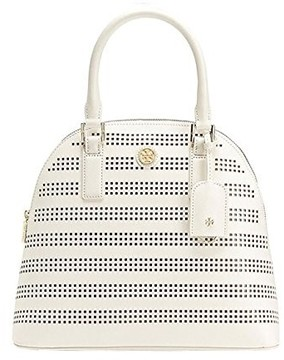 Tory Burch Robinson Perforated Dome Satchel - Birch/Luggage - ONE COLOR - STYLE