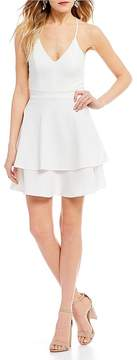 B. Darlin Tiered Hem Fit-And-Flare Dress