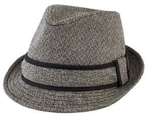 San Diego Hat Company Men's Tweed Fedora with Contrast Trim SDH9443