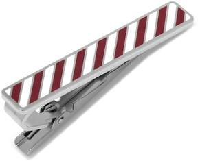 Cufflinks Inc. Varsity Stripes Maroon and White Tie Clip