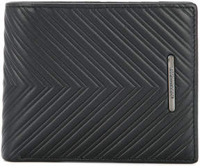 Cerruti quilted chevron wallet