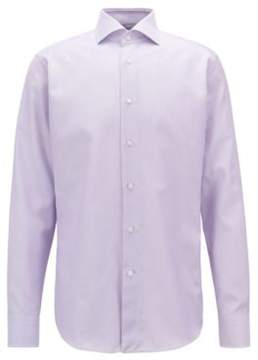 BOSS Hugo Cotton Dress Shirt, Regular Fit T-Stenson 15 Light Purple