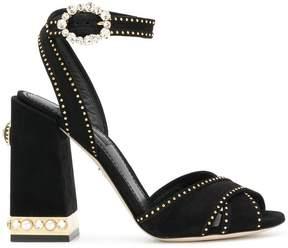 Dolce & Gabbana studded block heel sandals