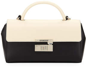Love Moschino Two-Tone Faux Top Handle Bag