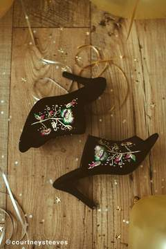 Urban Outfitters Zoe Embroidered Mule Heel