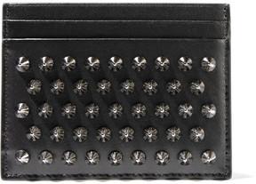 Christian Louboutin - Kios Spiked Leather Cardholder - Black