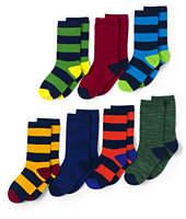 Lands' End Boys Patterned Socks (7-pack)-Navy