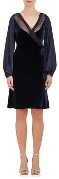 Alberta Ferretti Women's Velvet Long-Sleeve Dress