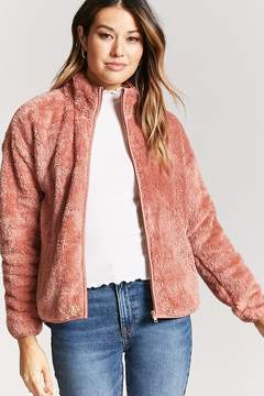 Forever 21 Fleece Zip-Up Jacket