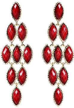 Amrita Singh Red Easter Jocasta Drop Earring