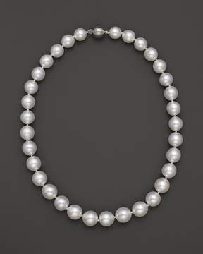 Bloomingdale's Cultured White South Sea Pearl Necklace in 14K Yellow Gold, 18
