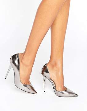 Office Shadow Pewter Mirror Pumps