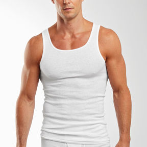 Hanes 3-pk. Cotton Athletic Shirts-Big & Tall