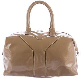 Saint Laurent Patent Leather Easy Bag - NEUTRALS - STYLE