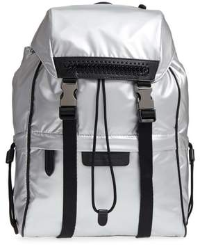 Stella McCartney Small Metallic Nylon Backpack