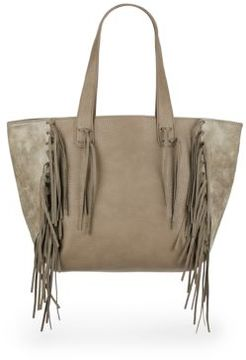Piper Fringe Faux Leather Tote Bag